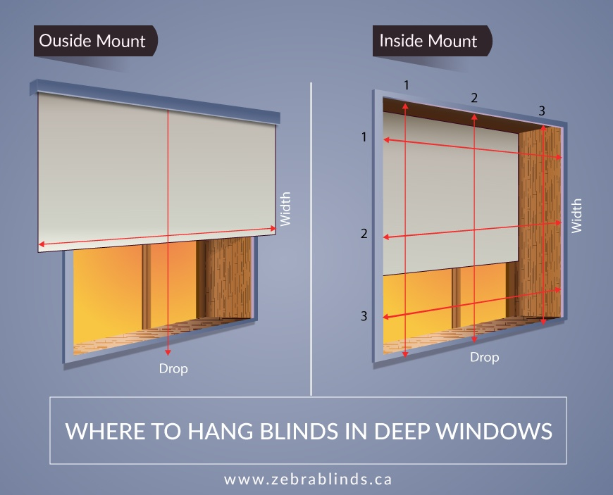 Where To Hang Blinds In Deep Windows Zebrablinds Ca