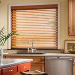 Living Pint-sized – 2-inch Faux Wood Blinds for Kitchen