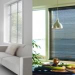 Brushed Aluminum Mini Blinds viz Solar Shades for Commercial Buildings