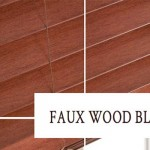 FAUX WOOD BLINDS FOR RETRO STYLES