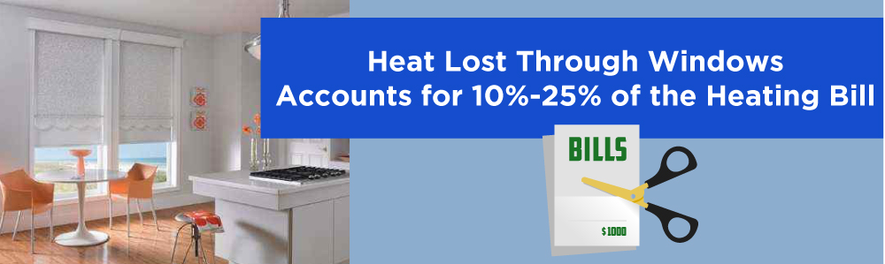 Heat Lost Through Windows Accounts for 10%-25% of Heating Bill