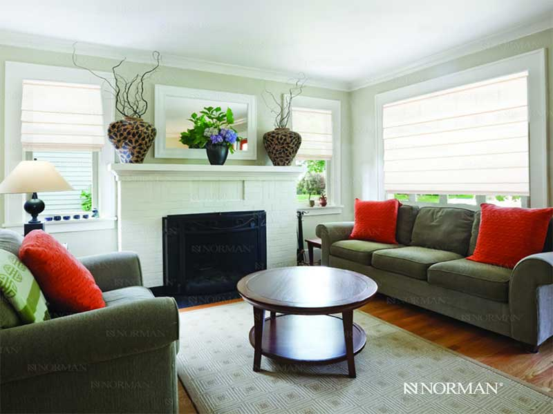 Norman-Cordless-Roman-Shades - ZebraBlinds.com