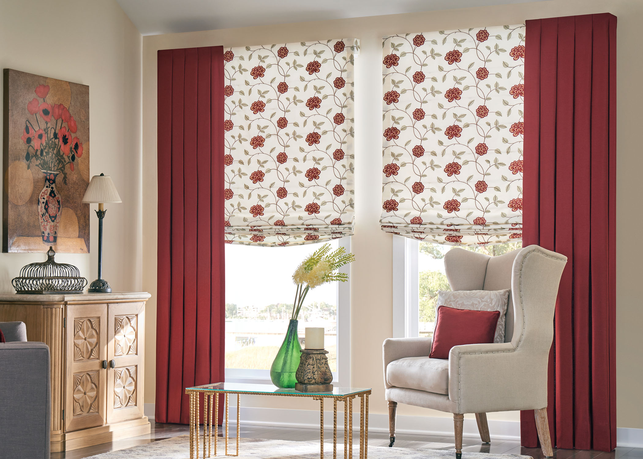 Ways to mix and match curtains with blinds zebrablinds Curtains venetian blinds