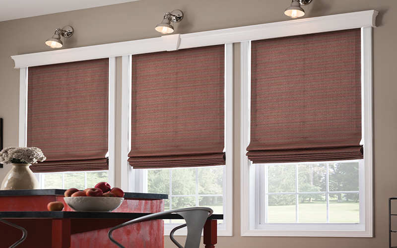 Flat-Roman-Shades-with-liner - ZebraBlinds.com