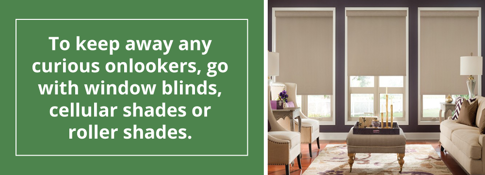 Window Blinds, Cellular Shades or Roller Shades for Privacy
