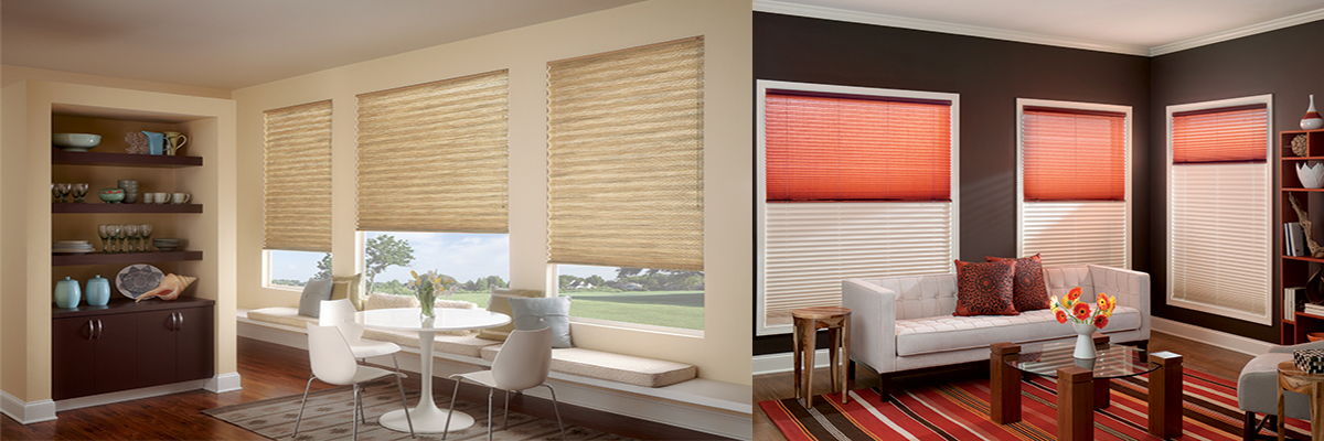 Graber pleated window shades with bottom up top down for Motorized top down bottom up shades