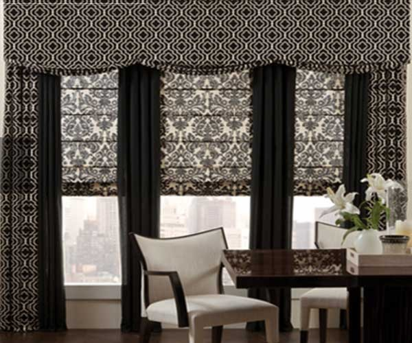 Curtains Ideas blinds or curtains : Bay window treatment - Combining of Curtains, Blinds or Shades?