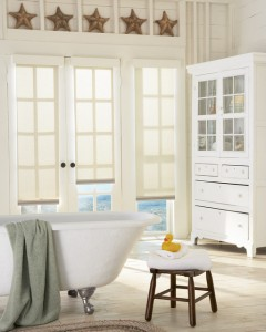 PVC Roller Shades used in Bathrooms