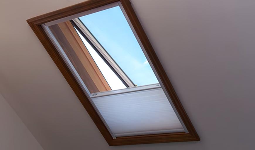 motorized light filtering skylight shades