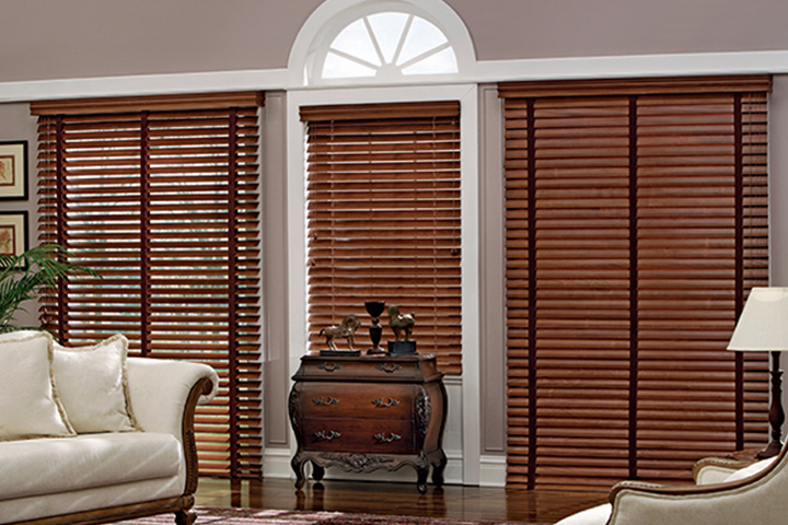 Wooden blinds for Non recessed windows