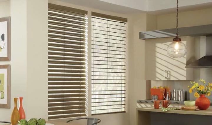 Aluminum blinds for modern kitchen