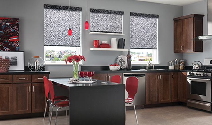 Roller shades for kitchen