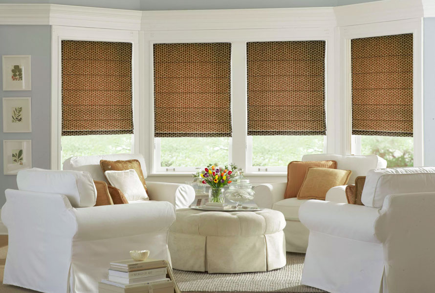Latest styles in window coverings for large windows zebrablinds for Contemporary window treatments for living room