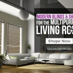Modern Blinds & Shades For The Multi-Purpose Living Room