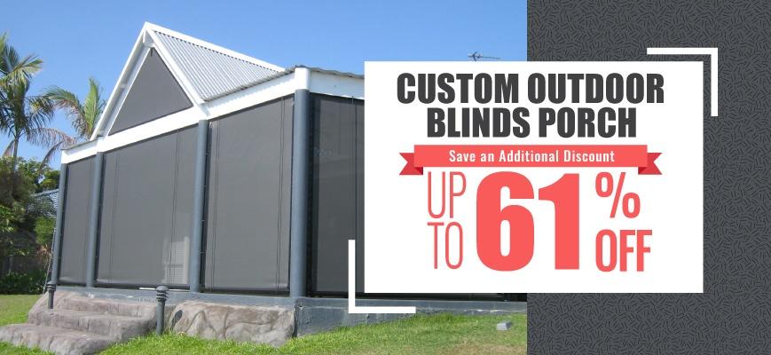 Custom Outdoor Blinds Porch