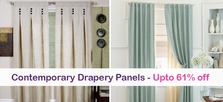 Contemporary Drapery Panels