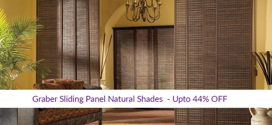 Graber Sliding Panel Natural Shades