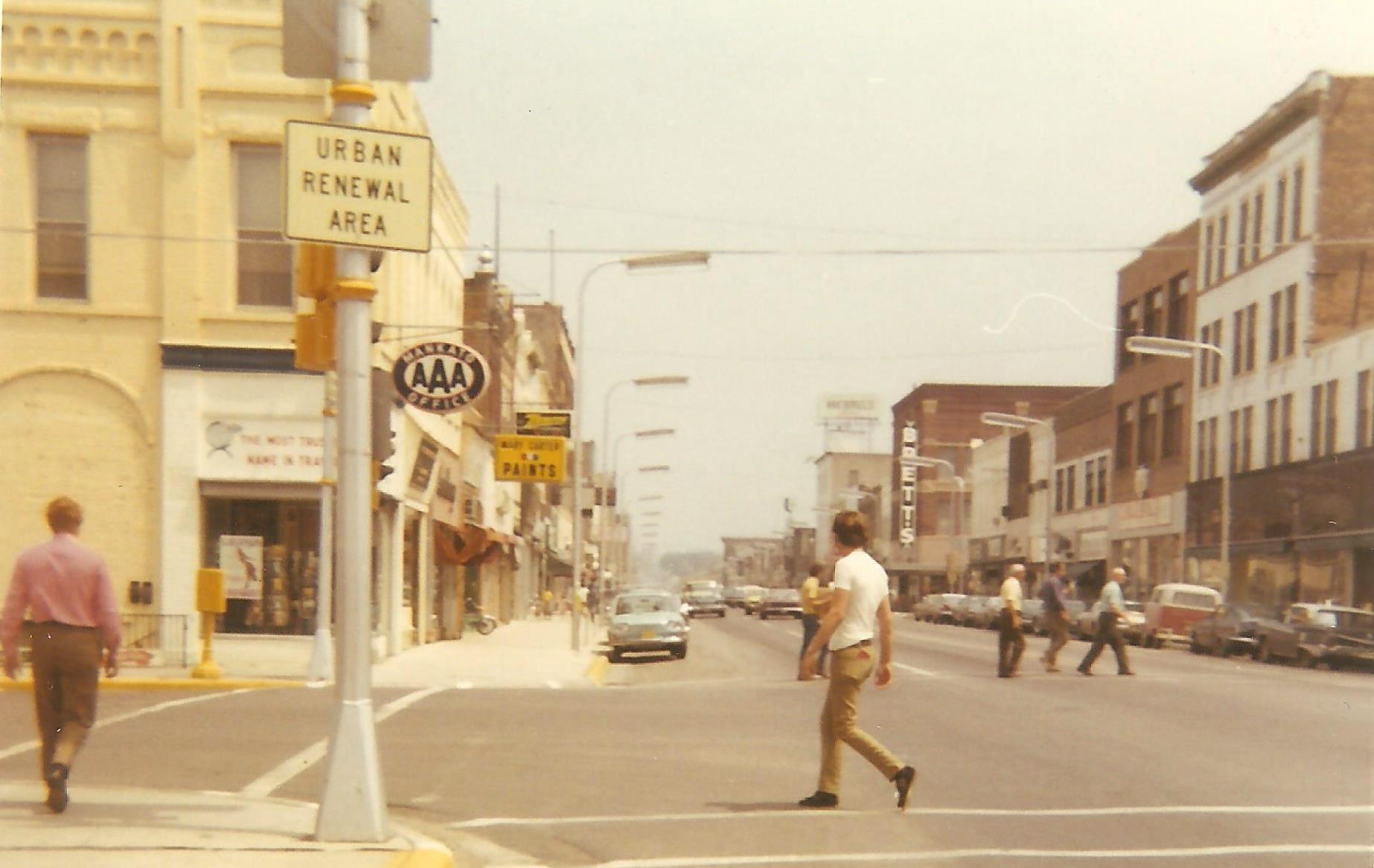 Front Street at Cherry Street, late 1960s