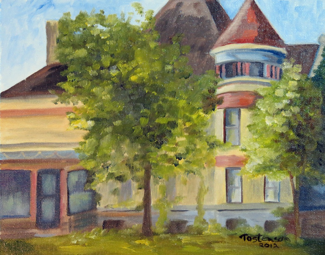 Painting of Cray Mansion by Gerry Tostenson