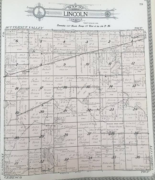 Plat of Lincoln Township, 1914