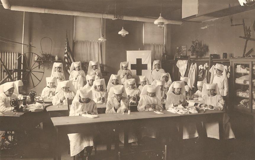Junior Red Cross members, 1917