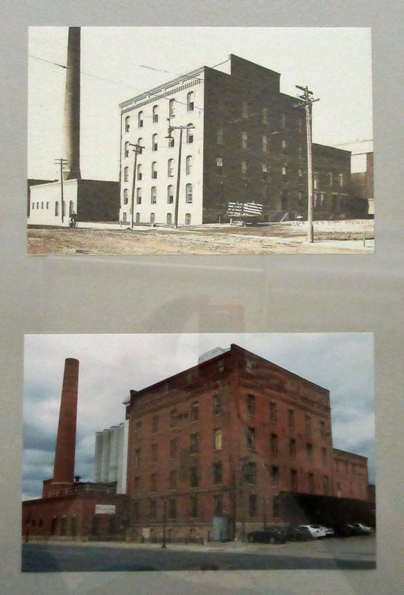 Then and Now Image - Hubbard Mill