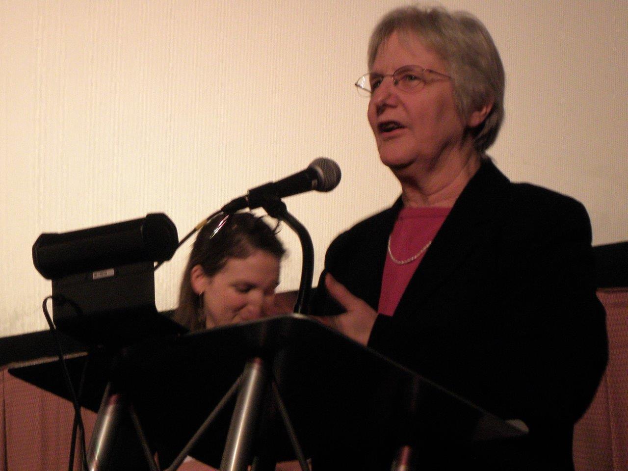 Diana at Film Fest podium, 4/10/18
