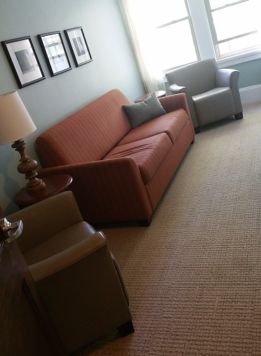 Renovated 3rd-floor lounge, May 2018