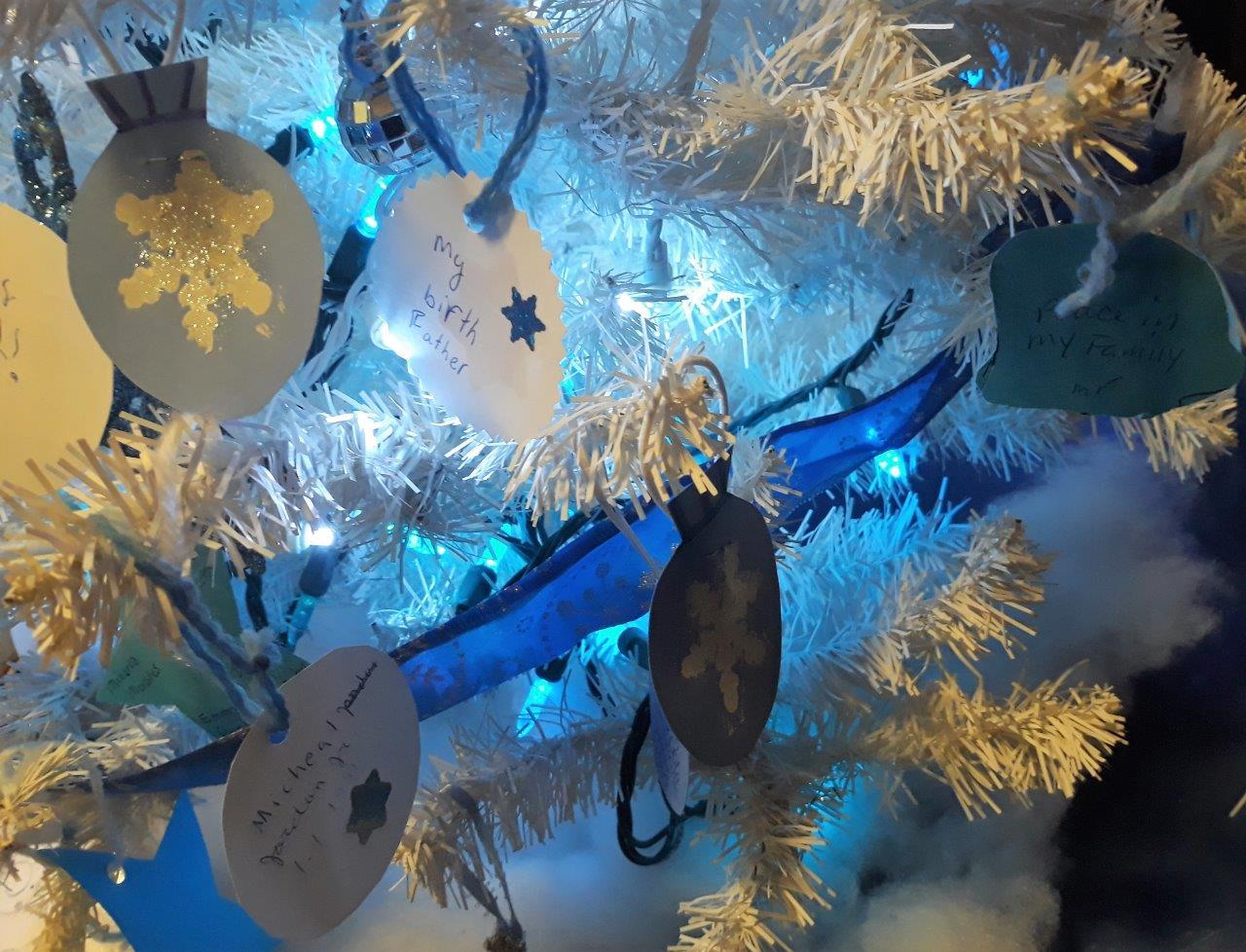 Blue Christmas ornament, 12/31/18