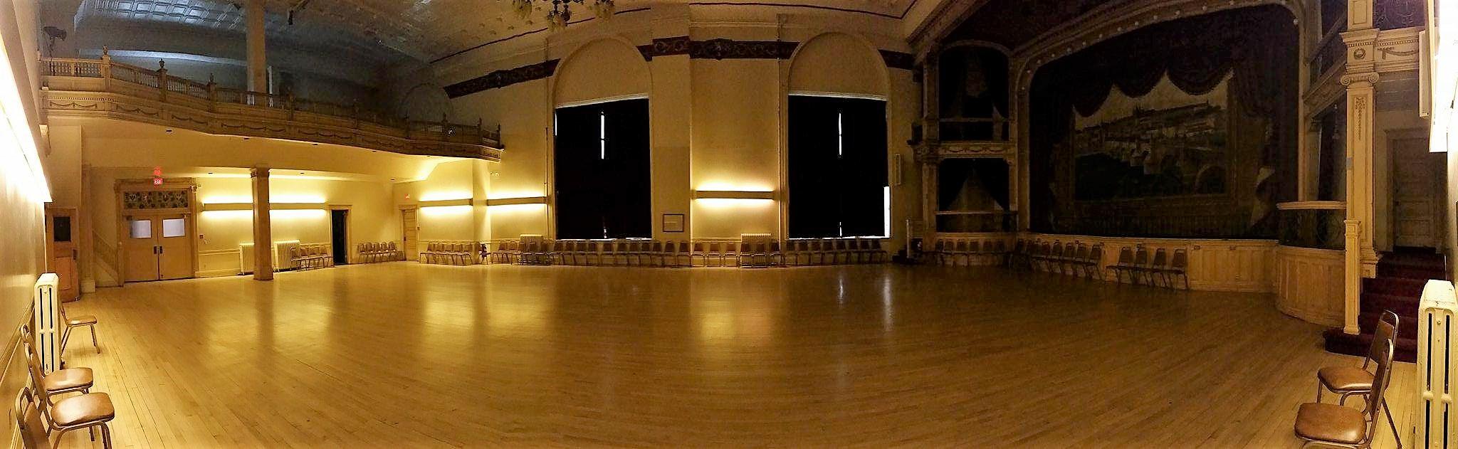 Bohemian National Hall ballroom panorama, Jan. 8, 2018