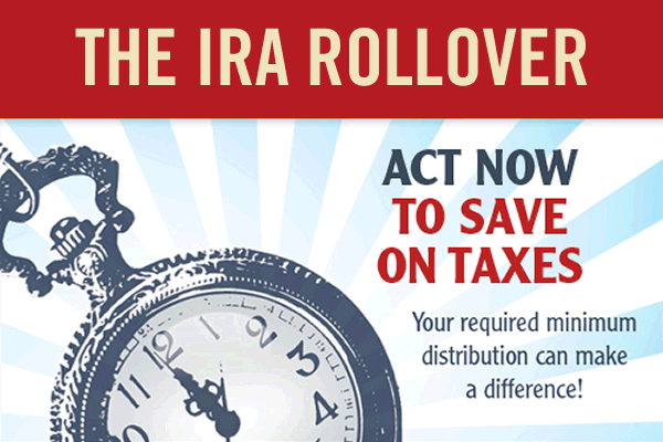 IRA rollover tax deduction graphic