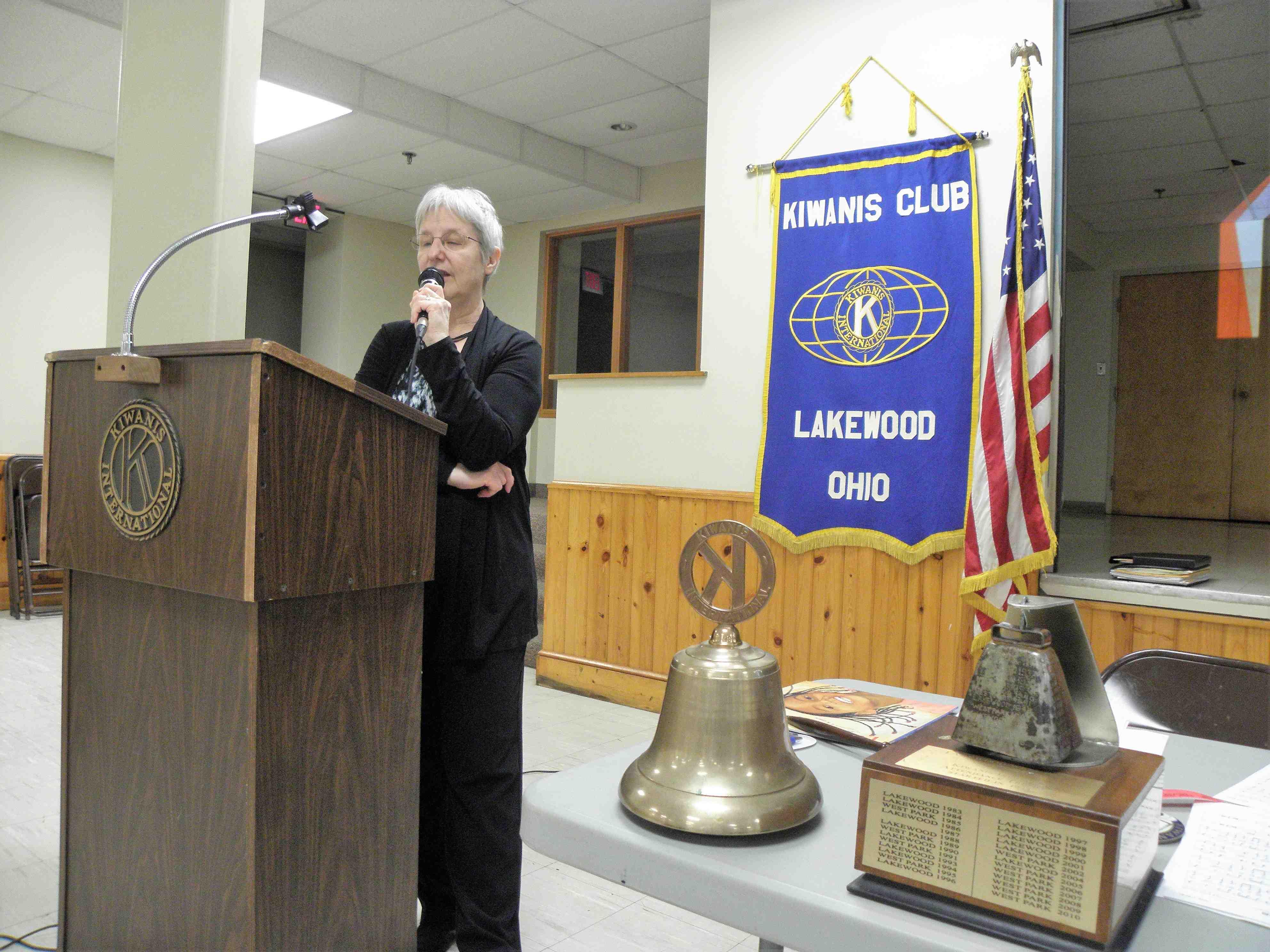 Diana Cyganovich at Kiwanis Club of Lakewood, 2/27/18