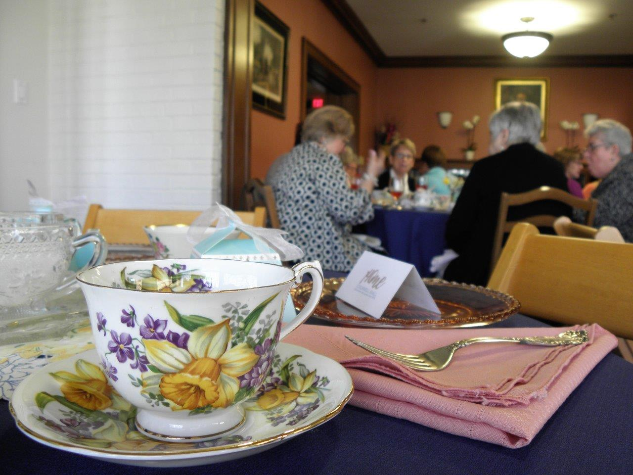 4/22/18 tea, teacup in foreground