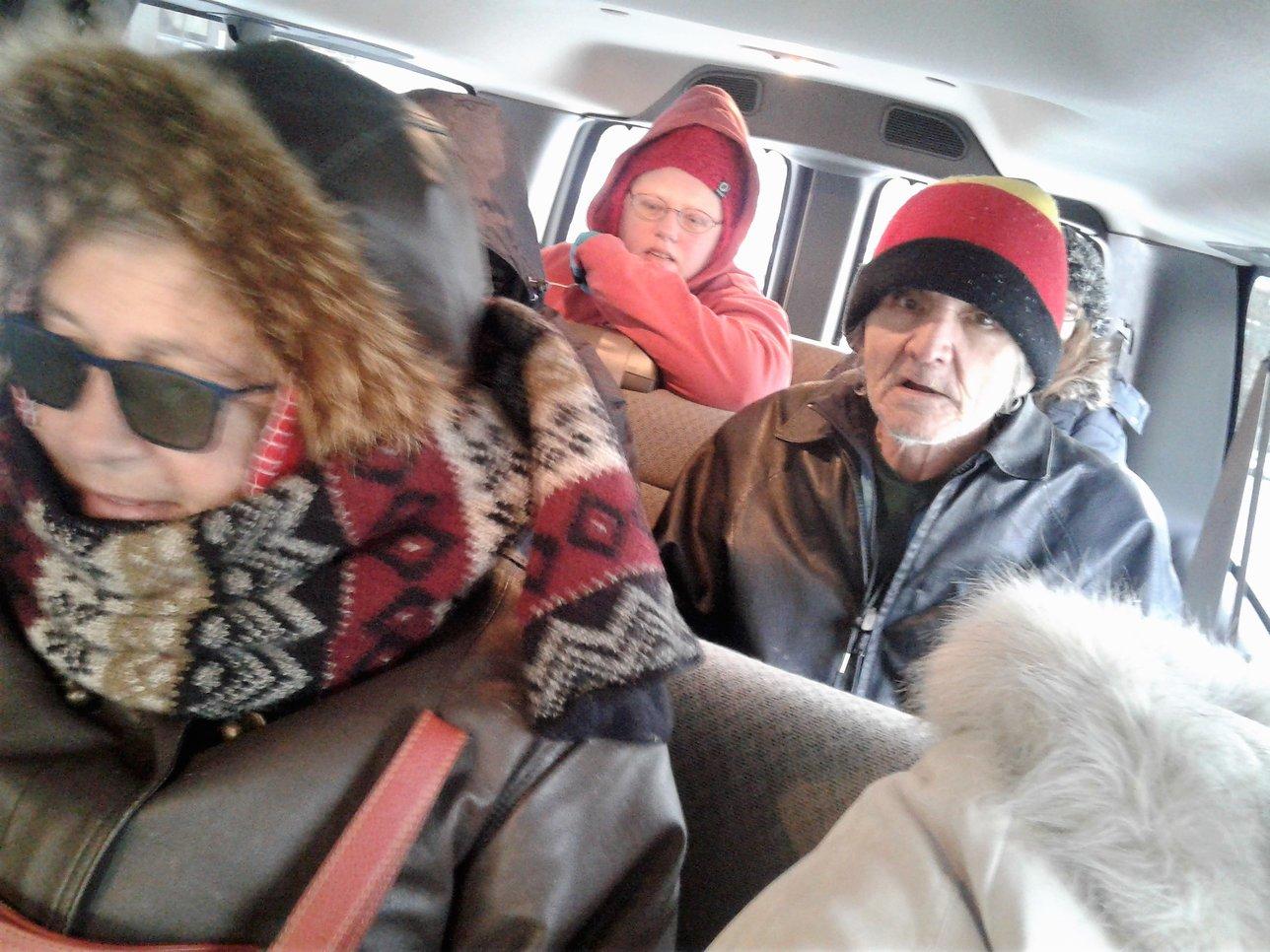 Residents inside new van for 1st time, Jan. 5, 2018