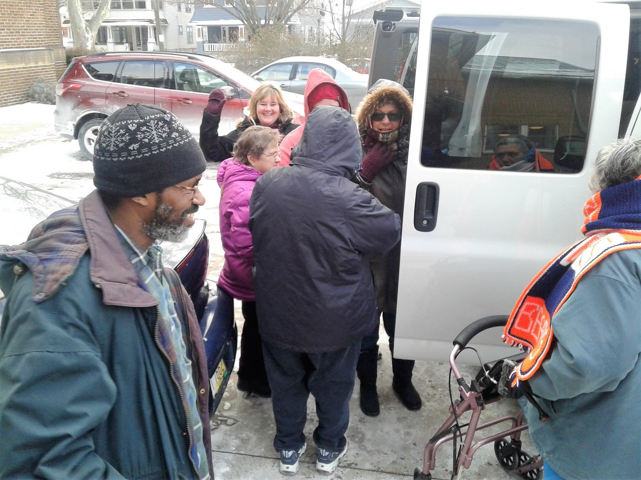 Residents board new van for first time, Jan. 5, 2018