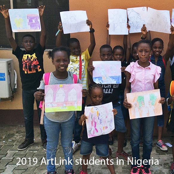 2019 ArtLink students in Nigeria