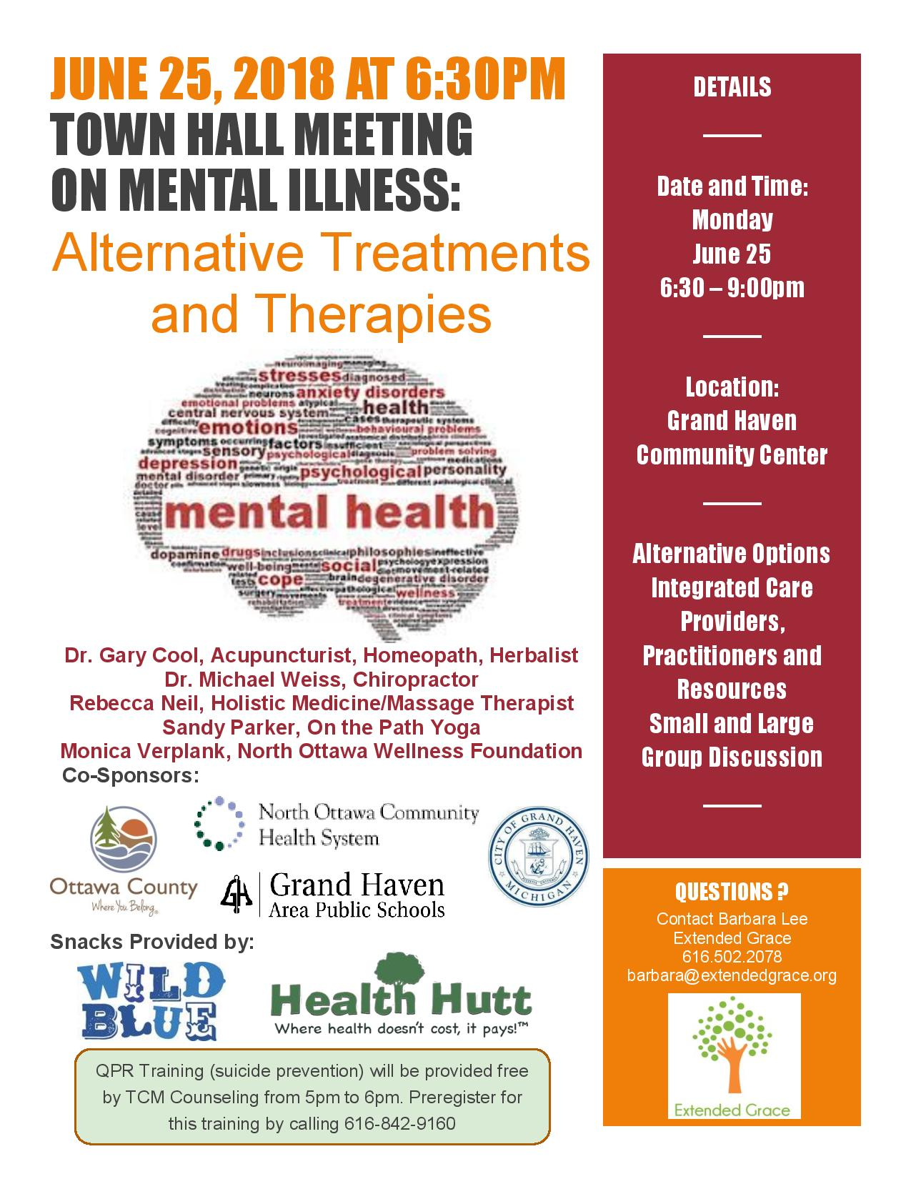 Town Hall on Mental Illness: Alternative Therapies and Treatments