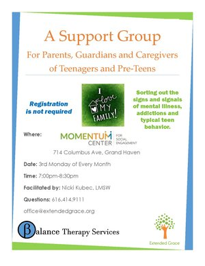 Parents/caregivers of teens support group
