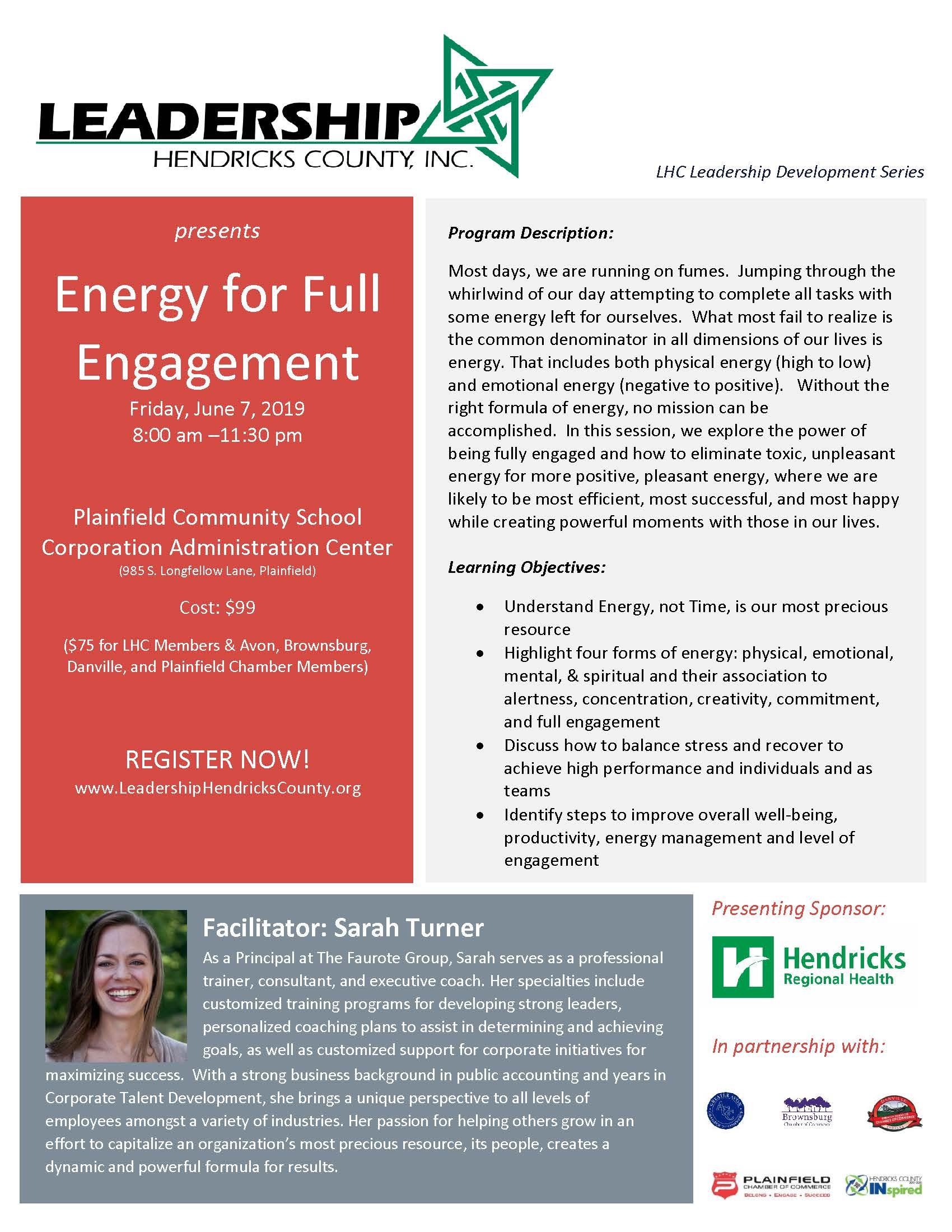 Energy for Full Engagement