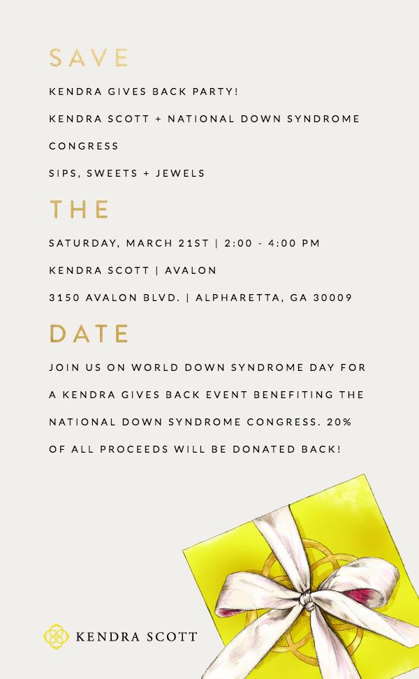 Kendra Scott Invite WDSD