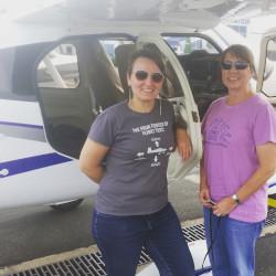test flight in a Tecnam