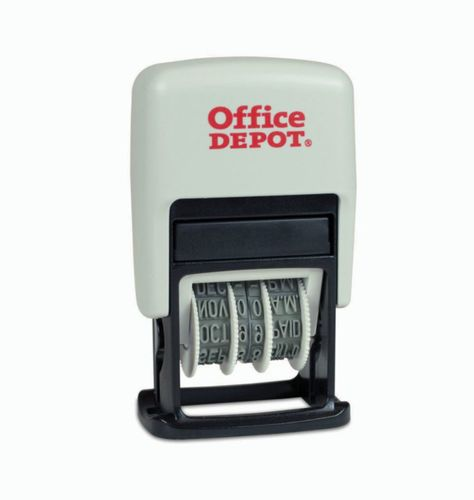 Office depot self inking 3 in 1 micro dater  redblue  032538