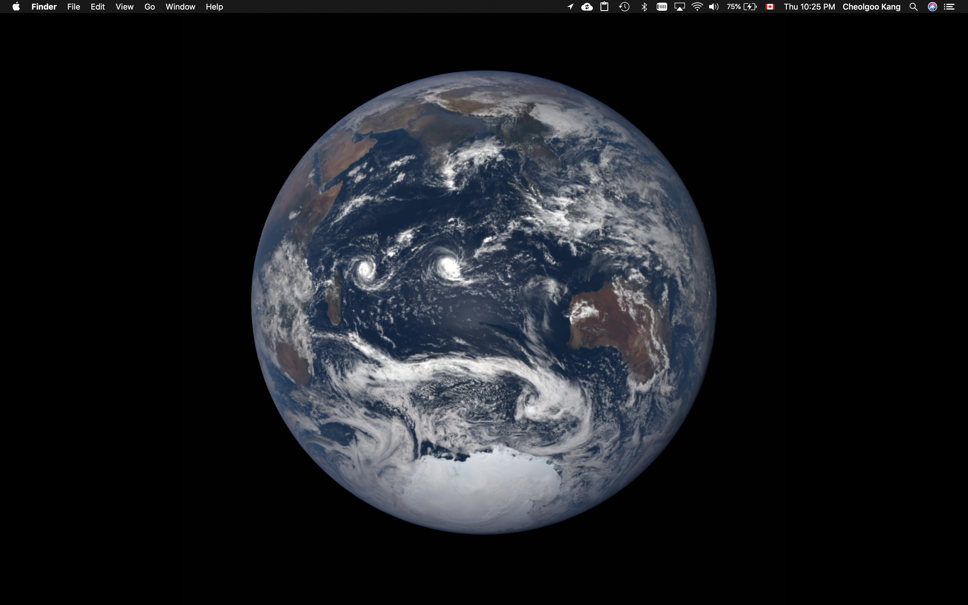 Preview of the macOS Mojave dynamic wallpaper on 2018 December solstice