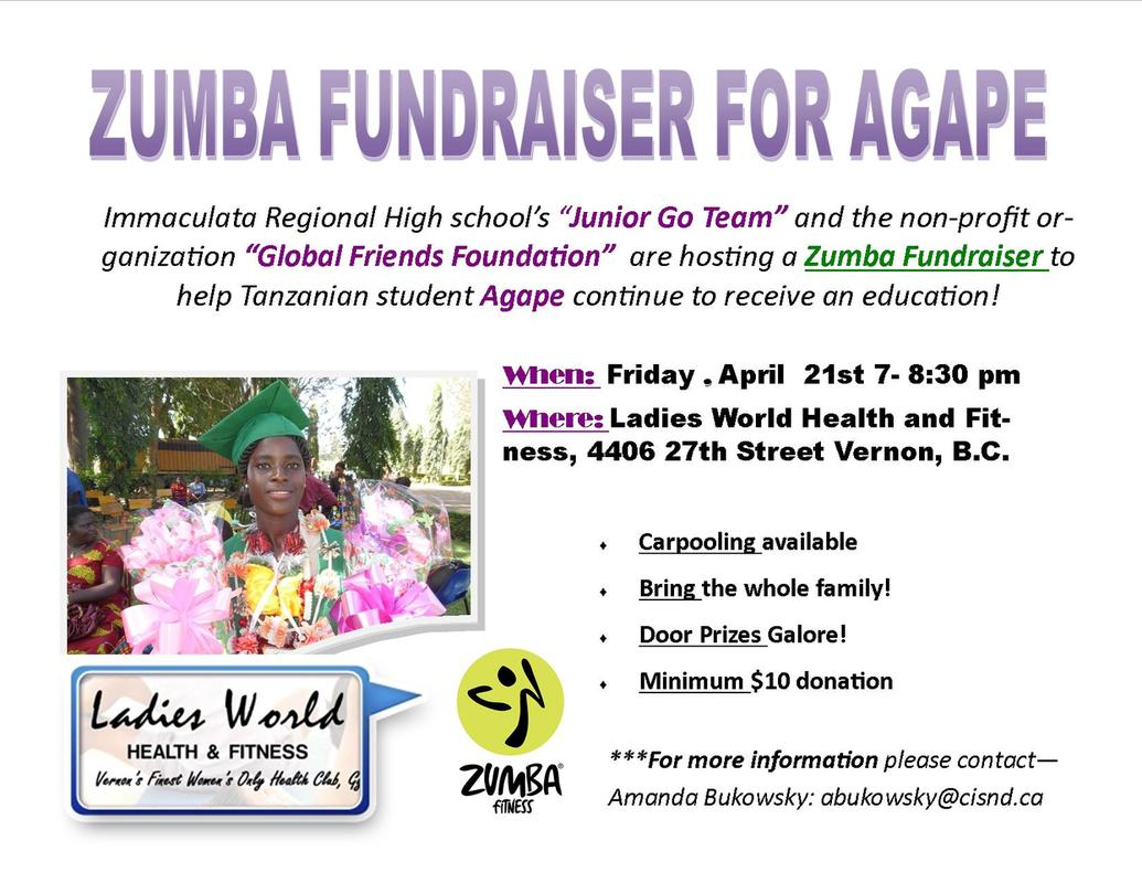 Jr GO Team Fundraiser for Agape!
