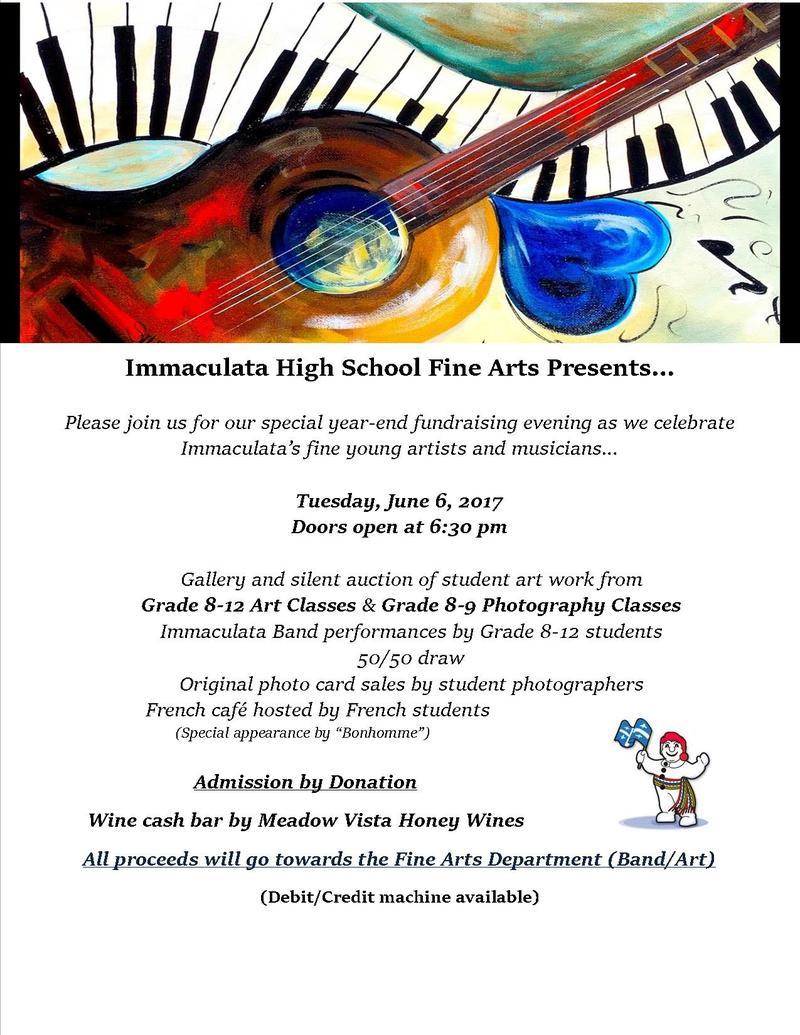 June 6th - Fine Arts Evening