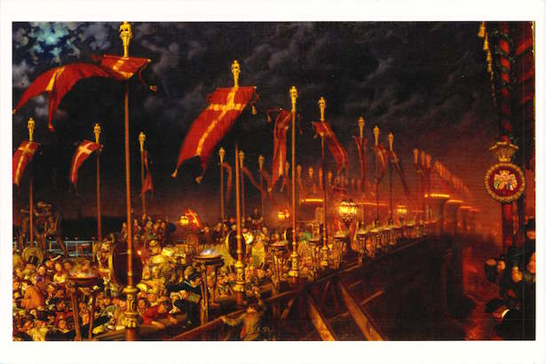 London Bridge at Night by William Holman Hunt