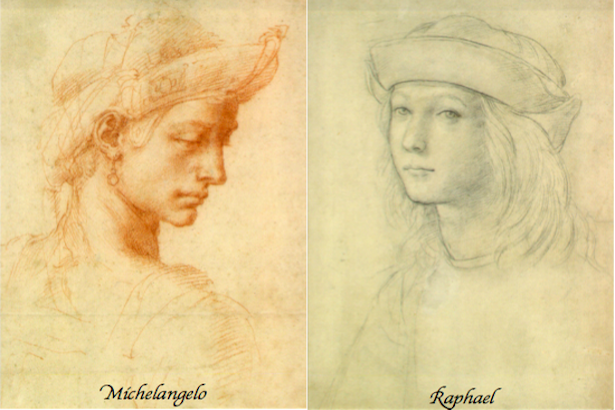 Drawings from Michelangelo and Raphael