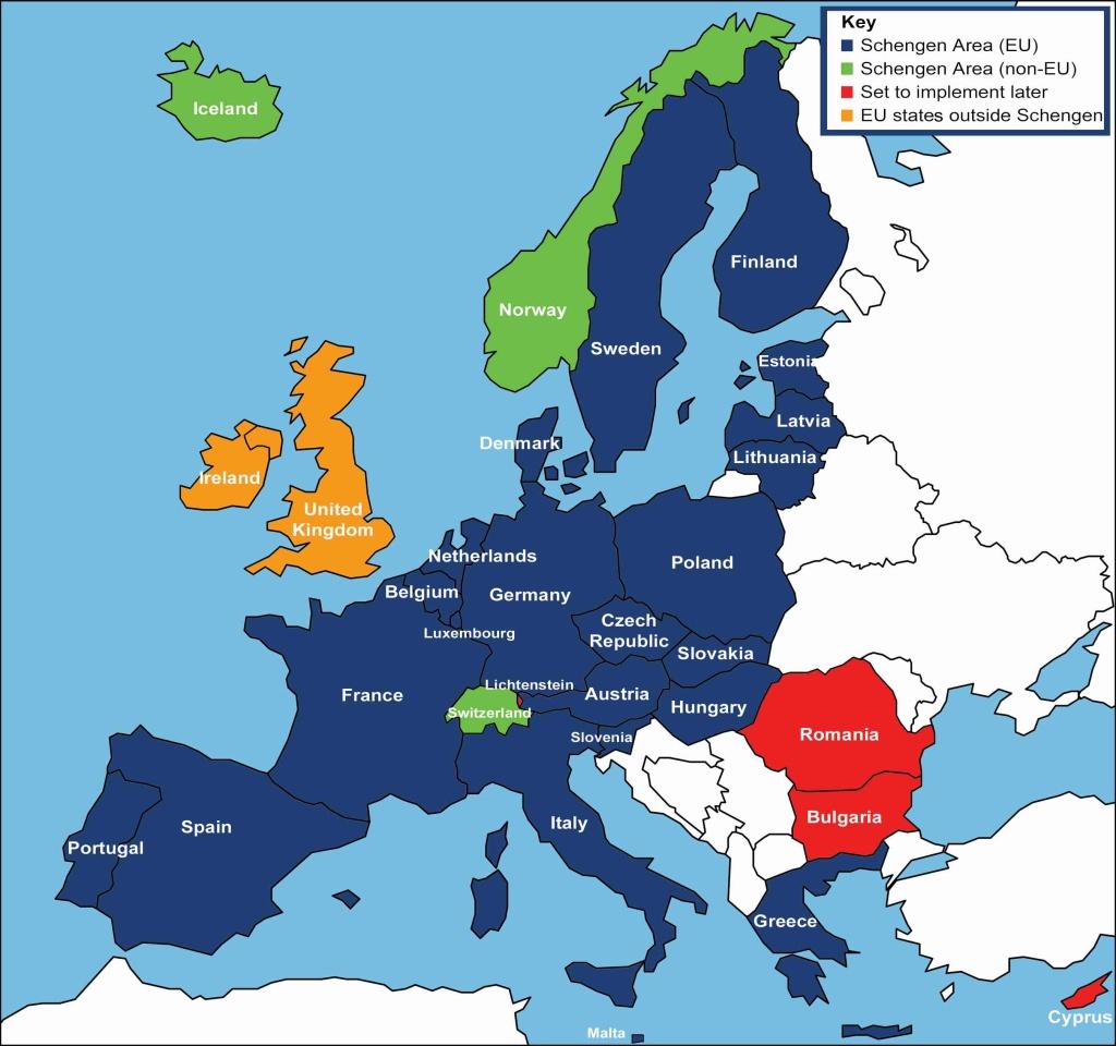 Schengen & Non-Schengen Countries