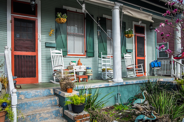 Algiers Point Front Porch