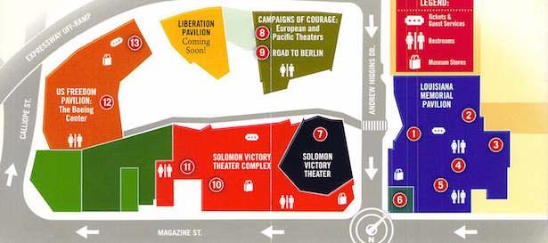 The National World War II Museum Map